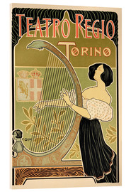 Acrylic print  Advertising Poster 'Theater Royal', Turin - Italian School