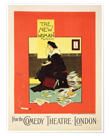 Premium poster Advertising poster 'The New Woman' by Sydney Grundy