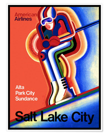 Premium poster Ski in Salt Lake City