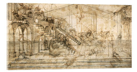 Acrylic glass  Perspective Study for the background of the Adoration of the Magi - Leonardo da Vinci