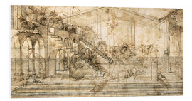 Leonardo da Vinci - Perspective Study for the background of the Adoration of the Magi