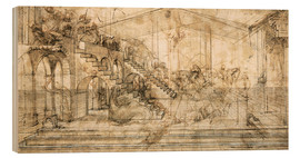 Wood  Perspective Study for the background of the Adoration of the Magi - Leonardo da Vinci