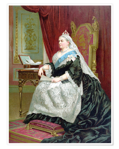 Fascinating Queen Victoria House Exterior Design With: Portrait Of Queen Victoria On Her Golden Jubilee Poster