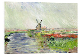 Foam board print  Tulip Field in Holland - Claude Monet