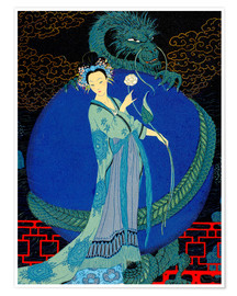 Premium poster  Woman with a kite - Georges Barbier