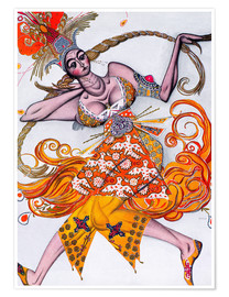 Premium poster Costume Design for a dance of the Diaghilev Ballet