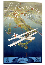 Acrylic print  Italian airline - Advertising Collection
