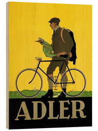 Wood print  Adler Bicycles - Advertising Collection