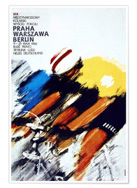 Premium poster  Races, Prague - Warsaw - Berlin - Advertising Collection