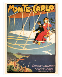 Premium poster  Flying over Monte Carlo - Travel Collection