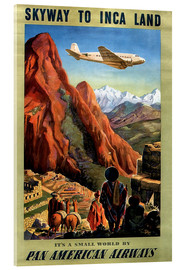Acrylic print  Skyway to Inca Land - Travel Collection