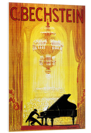 Foam board print  exposition - C. Bechstein - Advertising Collection