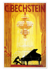 Premium poster  exposition - C. Bechstein - Advertising Collection