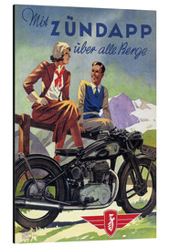 Alu-Dibond  With Zündapp over the hills