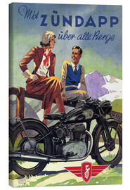 Canvas  With Zündapp over the hills