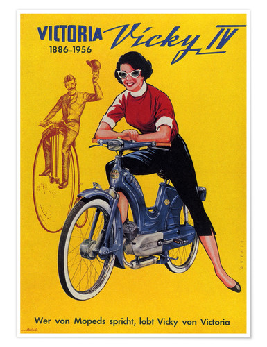 Premium poster Who´s talking about mopeds, praises Vicky Victoria