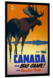 Foam board print  Canada - big game - Travel Collection