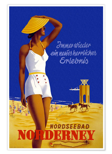 Premium poster North Sea bath on Norderney