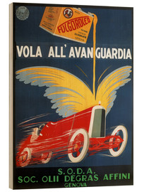 Wood print  Automotive oil from Genoa - Advertising Collection