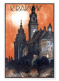 Premium poster  Krakow - Poland - Travel Collection