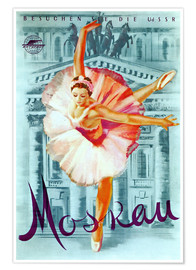 Poster  Moscow - Russian ballet