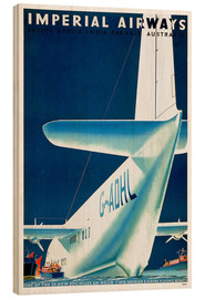 Wood print  Imperial Airways - seaplane - Travel Collection