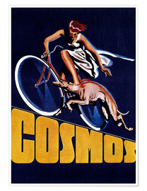 Premium poster  Cosmos bicycles - Advertising Collection