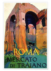 Premium poster  Italy - Rome, Mercato Di Traiano - Travel Collection