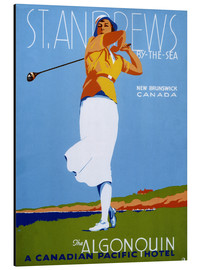 Aluminium print  St. Andrews - Golf - Advertising Collection