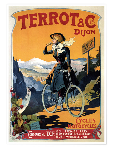 Premium poster Terrot & Cie Dijon bicycles and motorcycles