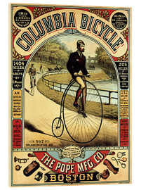 Acrylic print  Columbia Bicycles - Advertising Collection
