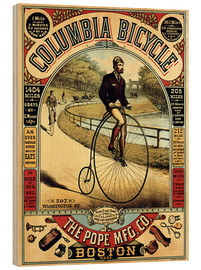 Wood print  Columbia Bicycles - Advertising Collection