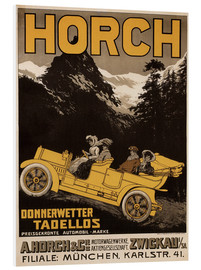 Foam board print  Horch cars - Golly impeccable - Advertising Collection