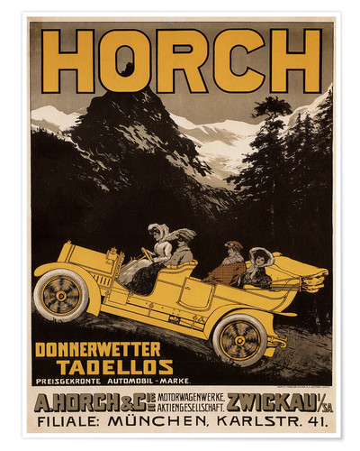 Premium poster Horch cars - Golly impeccable