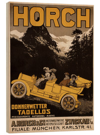 Wood print  Horch cars - Golly impeccable - Advertising Collection