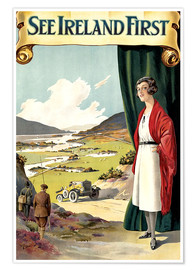 Premium poster  see Ireland first - Travel Collection