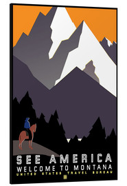 Aluminium print  See America - Welcome to Montana - Travel Collection