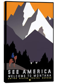 Canvas print  See America - Welcome to Montana - Travel Collection