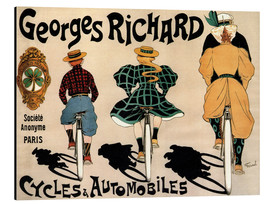 Aluminium print  Georges Richard bicycles - Fernand Fernel