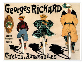 Premium poster Georges Richard bicycles