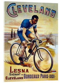 Acrylic print  Cleveland Bicycles - Advertising Collection