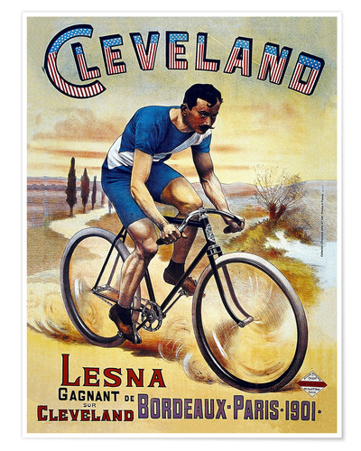 Premium poster Cleveland Bicycles