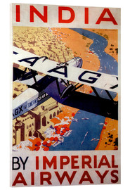 Acrylic glass  India tour with Imperial Airways