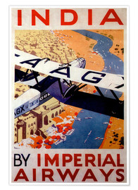 Premium poster  India tour with Imperial Airways - Travel Collection