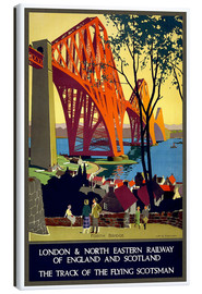 Canvas  Forth Bridge London Railway