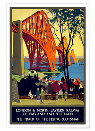 Premium poster Forth Bridge London Railway