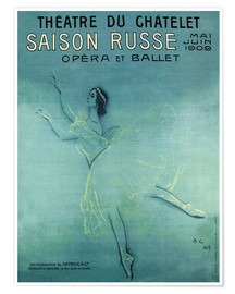 Premium poster  Saison Russe - Opera et Ballet - Advertising Collection