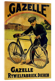 Acrylic print  Gazelle Rywielen Bicycle - Advertising Collection