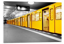 Acrylic glass  Berlin Subway U Bahn - bildpics