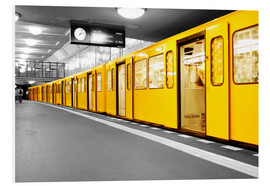 Foam board print  Berlin Subway U Bahn - bildpics